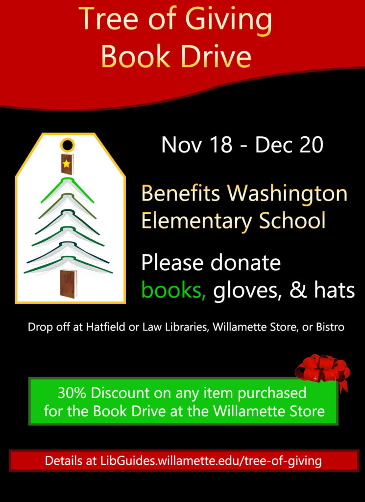 Tree of Giving book drive poster