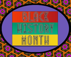 decorative rendering of black history month